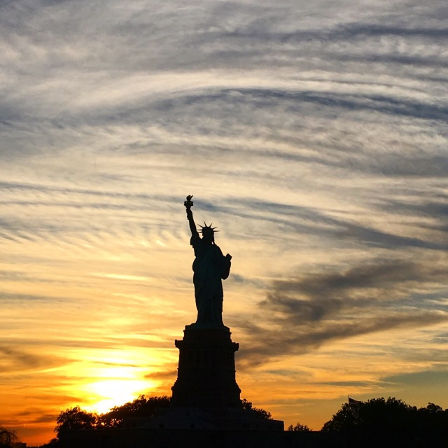 sunset liberty